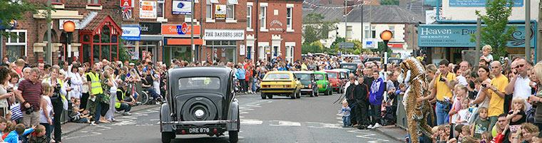People out at a Leyland event.